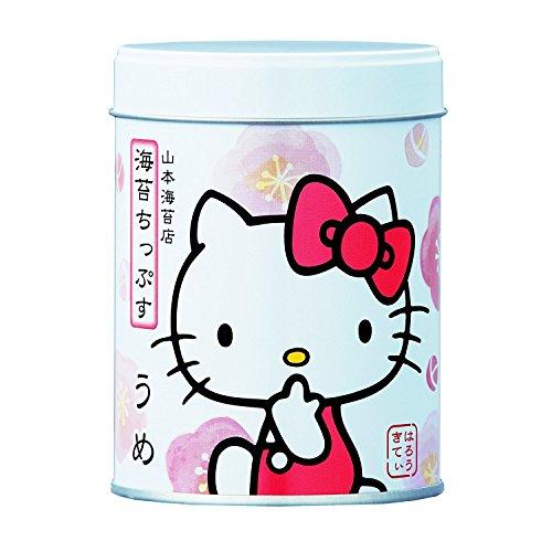 Yamamoto-Noriten x Hello Kitty Seaweed Chips Flavored Seaweed Assorted 4 flavors(Plum, Sesami, Yuzu Honey, Curry) Made in Japan [Japan Import] by Yamamoto-Noriten (Image #1)