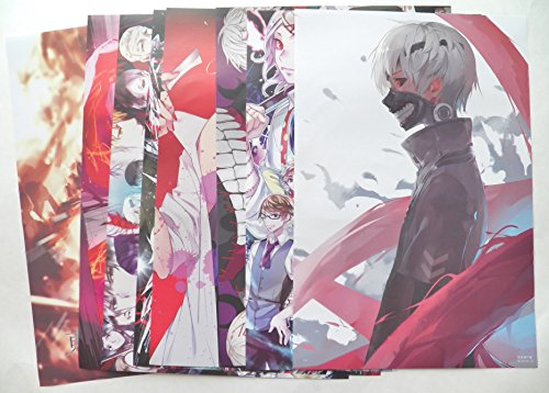 8 pcs Anime Tokyo Ghoul Poster Prints Set ~ US Seller