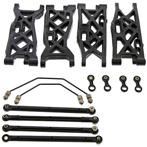 Team Losi 8ight-T Nitro 4WD Truggy 1/8: Front & Rear Suspension Arms & Sway (Truggy Front)