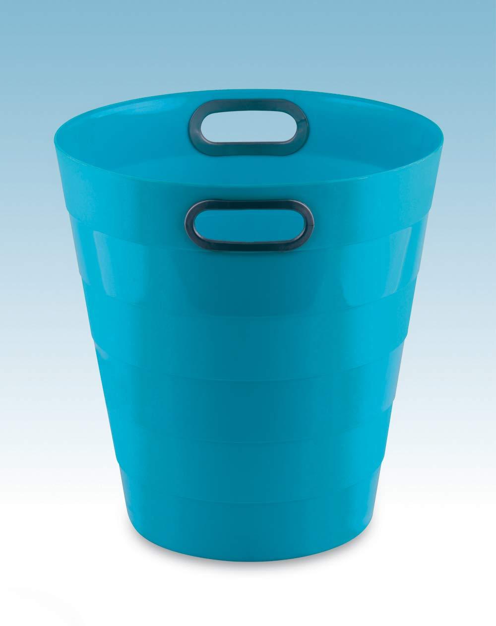 Cestino Gettacarte Chiuso da 12.5 Litri Formato 28.5x30H cm Blu Neon