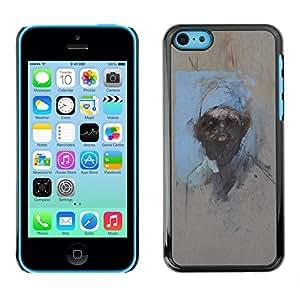 Caucho caso de Shell duro de la cubierta de accesorios de protección BY RAYDREAMMM - Apple iPhone 5C - Watercolor Painting Art Man