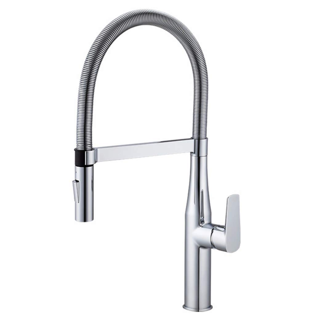 Mixer Tap Single Handle Kitchen Hot and Cold New Spring Pull Kitchen Faucet Without Lead