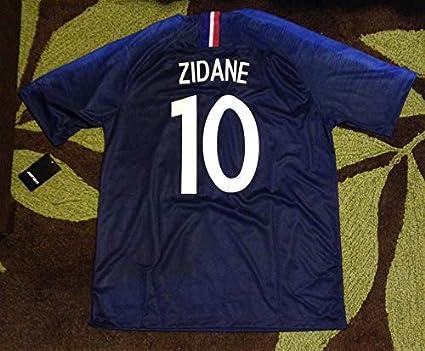 268d82a79 Amazon.com   Retro Zidane 10 France Home Soccer Jersey 2 Stars ...
