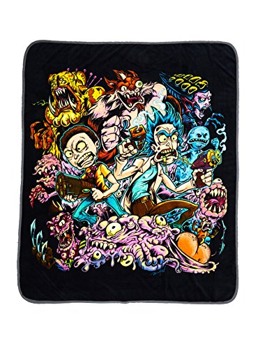 Throw 50x60 Micro Raschel Blanket (Rick and Morty Micro Raschel Throw Blanket 50 in x 60 in)