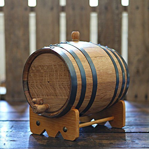 3-liter American Oak Barrel | Handcrafted using American White Oak | Age your own Whiskey, Beer, Wine, Bourbon, Tequila, Hot Sauce & - Rum Barrel