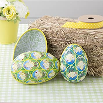 Set of 2 papier mache easter egg boxes chics amazon set of 2 papier mache easter egg boxes chics amazon kitchen home negle Images