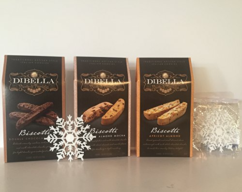 DiBella Gourmet Traditional Artisan Style Italian Biscotti Cookies Variety Bundle: (Chocolate Dutch Wine)
