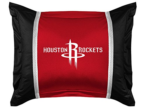NBA Houston Rockets Sidelines Shams, Standard, Bright Red by Sports Coverage
