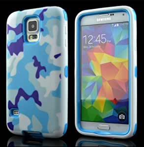 Creativecase Deluxe Laser Printed Hard Soft High Impact Hybrid Armor Defender Case Combo for Samsung Galaxy S5 V I9600