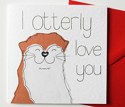 Amazon i otterly love you valentines day anniversary i otterly love you valentines day anniversary birthday love card bookmarktalkfo Image collections