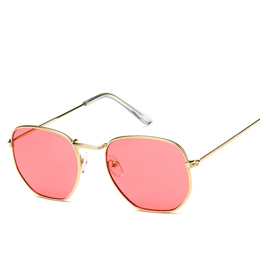 BEESCLOVER Retro Square Frame Metal Polygon Sunglasses for Outdoor Sports Driving