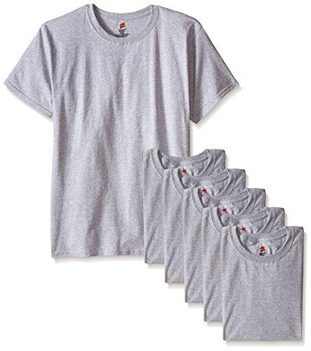 Medium Gray T-shirt (Hanes Men's ComfortSoft T-Shirt (Pack Of 6), Light Steel, Medium)