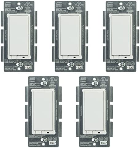 Jasco 45609 Z-Wave Wireless Lighting Control On Off Switch 5-Pack