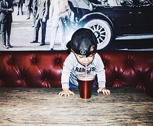 TINY TRUCKER Co Toddler Little Brother Trucker Hat Black//White