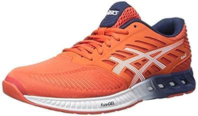 ASICS Men's fuzeX Running Shoe,Cherry Tomato/White/Estate Blue,6.5 M US