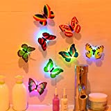 Gaddrt Wall Stickers Butterfly LED Lights 3D Wall Stickers for House Decoration