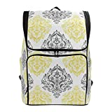Laptop Backpack Yellow Gray College Backpack for Women Big Boxy Back Pack