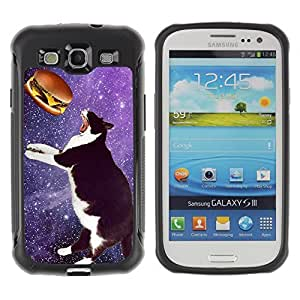 Hybrid Anti-Shock Defend Case for Samsung Galaxy S3 / Space Cat