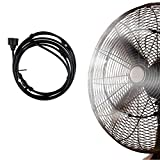 Moolon Misting Kit Fan Ring Outdoor Misting System for Patio Garden Greenhouse