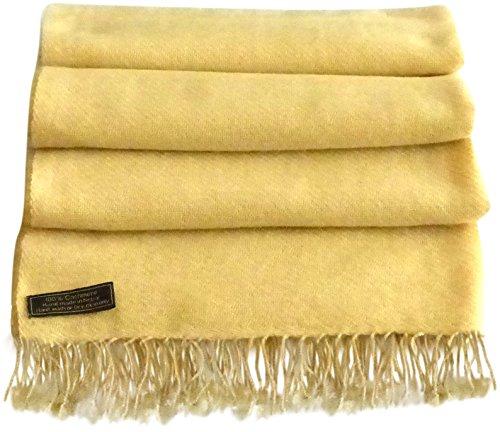 Scialle nbsp;ply Cj 2 100 Light Nepal Fatto Nuovo Mano A Apparel High Sciarpa Grade Wrap Gold In Cashmere XrnYXw7q