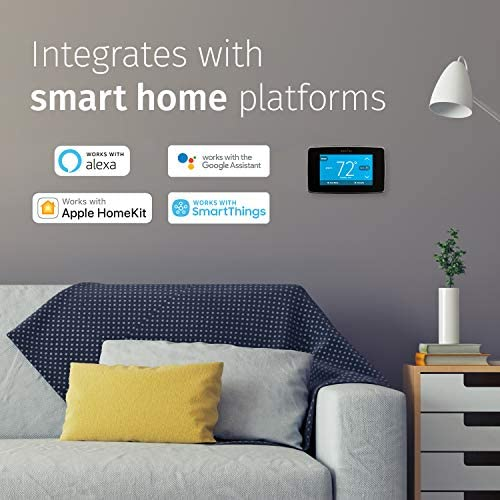 Emerson Sensi Touch Wi-Fi Smart Thermostat with Touchscreen Color Display, Works with Alexa, Energy Star Certified, C-wire Required, ST75 51tKZFiwdEL