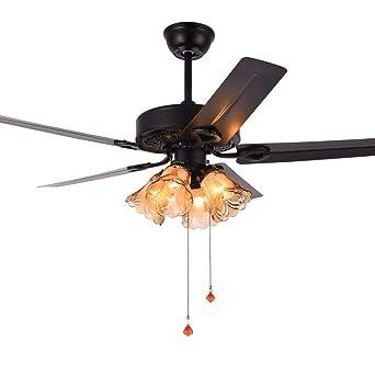 luz ventilador de techo, con, hogar sala de estar con LED ...