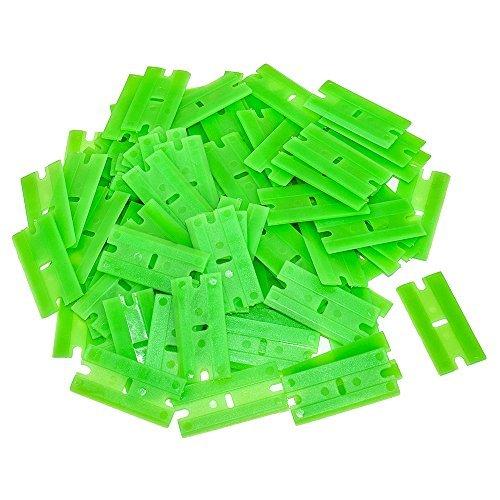 AES Industries Plastic Single Chisel Edge Scraper Blade 100 Pack