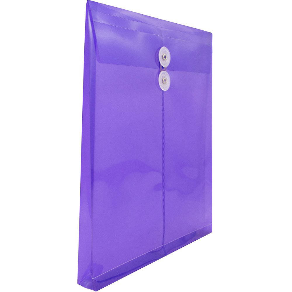 JAM PAPER Plastic Envelopes with Button & String Tie Closure - Letter Open End - 9 3/4 x 11 3/4 - Assorted Colors - 6/Pack by JAM Paper (Image #4)