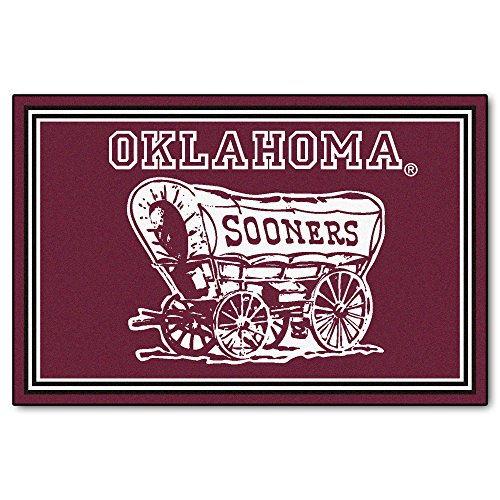 FANMATS NCAA University of Oklahoma Sooners Nylon Face 5X8 Plush Rug by Fanmats