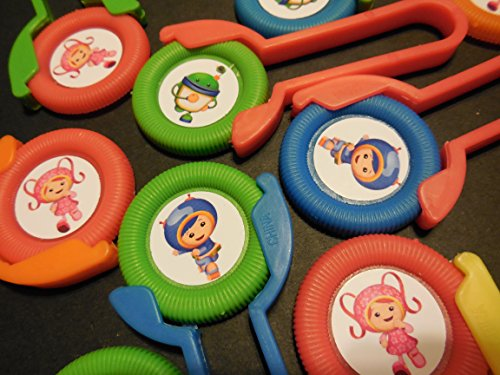 12 TEAM UMIZOOMI disk shooters for birthday party favors -