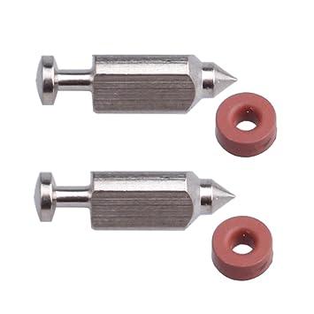 Panari (Pack de 2) asiento de válvula de flotador aguja para carburador Kit para Briggs y Stratton 398188 281144: Amazon.es: Jardín