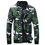2019 New Mens Winter Camouflage Thickening Coat