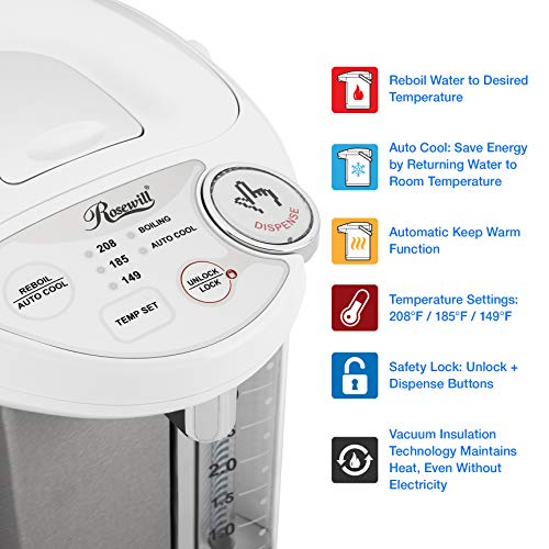 Rosewill Boiler and Liter Water Stainless Steel / White, R-HAP-15002