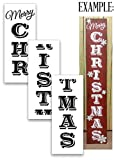 X-Large 72'' MERRY CHRISTMAS STENCIL for Painting on Wood | Reusable | Ideal for DIY Crafting Tall Vertical Holiday Seasonal Porch Signs or Rustic Pallet Entrance Signs - 72'' x 12'' - 3pc