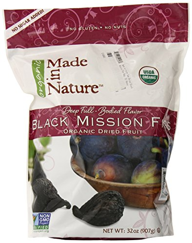 Made in Nature Organic Sun Dried Black Mission Figs in Resealable Bag, 32-ounces (Dried Black Mission Figs)