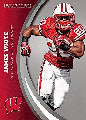 Amazon.com: James White football card (Wisconsin Badgers) 2015 ...