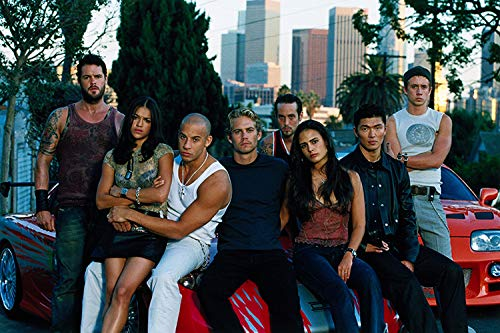 Fast and Furious Old School Cast 24x36 Poster