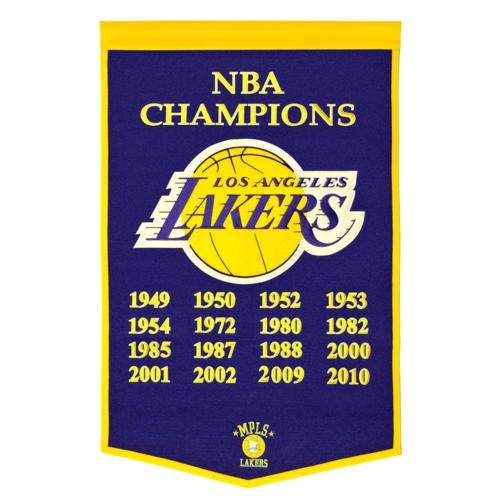 Los Angeles Lakers NBA Finals Championship Dynasty Banner - with hanging rod