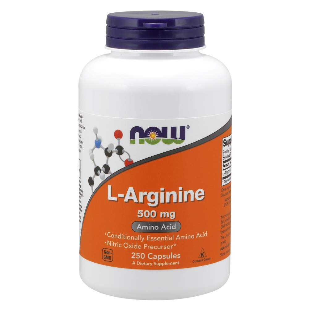 NOW Supplements, L-Arginine 500 mg, Amino Acid, 250 Capsules by NOW Foods