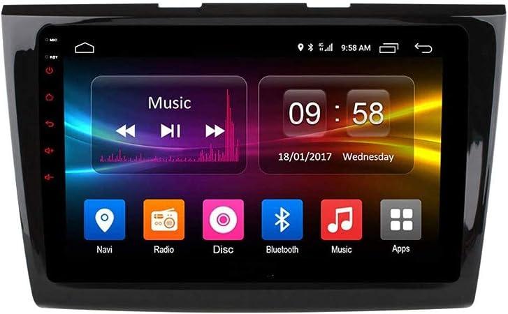 XBRMMM Radio Coche con Navegación GPS Android 8.1, TV Estéreo con Pantalla Táctil 9