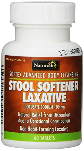 Naturade Stool Softener (Softex) Laxative Tablets, 60 Count Bottle