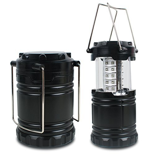 LED Camping Lantern Vinmax Portable Camping Lantern Flashlights (Black Collapsible) Survival Kit for Emergency, Hurricane, Outage, Hiking, Storm, Fishing