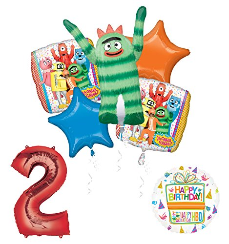 Mayflower Products Yo Gabba Gabba 2nd Birthday Party Supplies and Balloon Bouquet Decorations