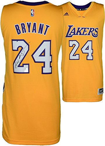 Kobe Bryant Los Angeles Lakers Autographed Gold Swingman Jersey - Panini - Fanatics Authentic Certified