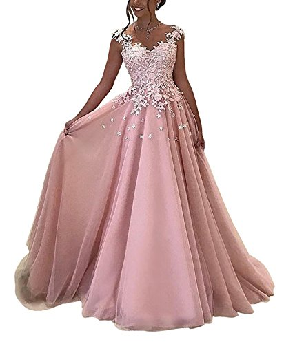 Pink Evening Long Prom Gowns Formal 2018 for Women Callmelady Dresses IdzqIw