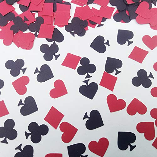 Morndew 100 PCS Deck of Cards Poker Symbol Confetti for Las Vegas Theme Party Wedding Party Birthday Party Decorations ()