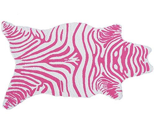 The Rug Market 25618B Handmade Rugs, Mini Zebra Pink, Multicolor