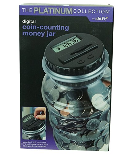 The Platinum Collection Digital Coin-counting Money Jar by Platinum Collection