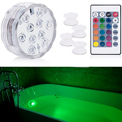 Submersible Light Remote Controlled, Aurora RGB Multi Color waterproof lights idea for Bathtub, Aquarium, Vase Base, Pool Lights ,Christmas, Wedding, Party Decorative light 1 - Mall Aurora Shops