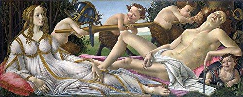 Sandro Botticelli - Venus and Mars - Small - Semi Gloss Print - Venus And Mars Botticelli